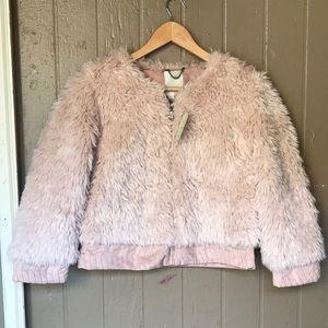 Anthropologie elevenses faux fur jacket